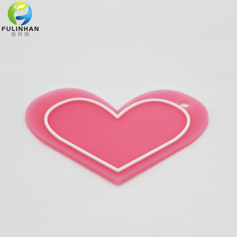 lovely hearted rubber patch