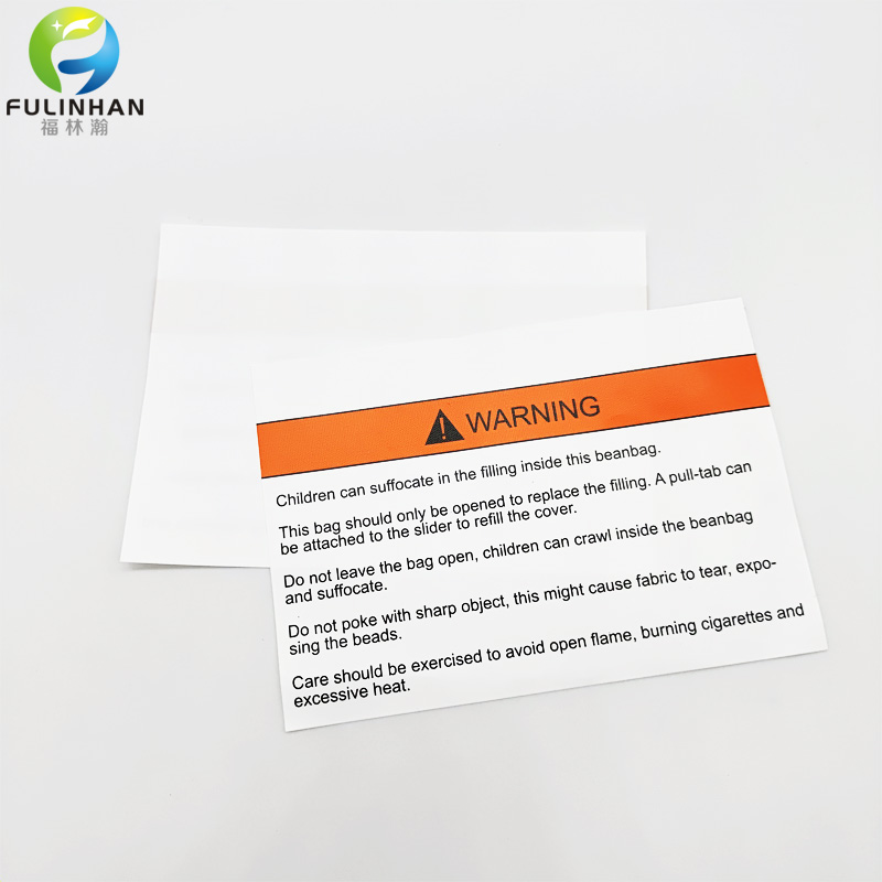Warning Nylon Taffeta Labels