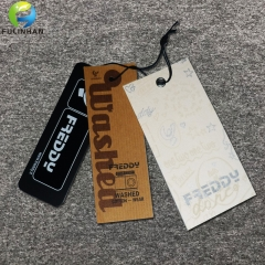 Custom printed  Paper Hang Tags for clothing