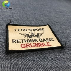 High Quality Custom Cotton  Printed Clothing Labels
