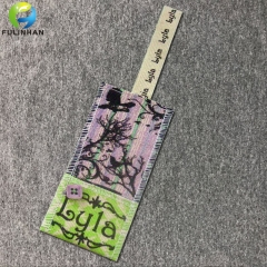 Natrual Cotton Canvas Fabric Clothing Hang Tags With Button