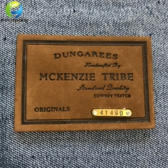 custom clothing jeans leather patches with metal