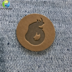 Custom Embossed Logo Leather Patches for Jeans