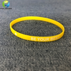 wholesale Custom Printed Silicone Wristbands