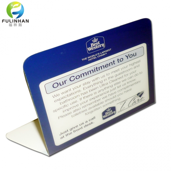 High Quality New Disign V Shape Acrylic Tent Card Holders Suppliers - Table tent card holders