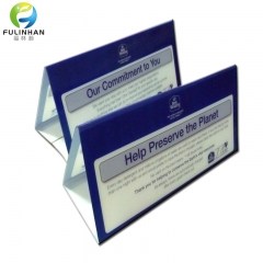 V shape acrylic tent card holders
