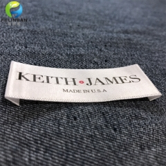 Custom Clothing Printed Satin Labels