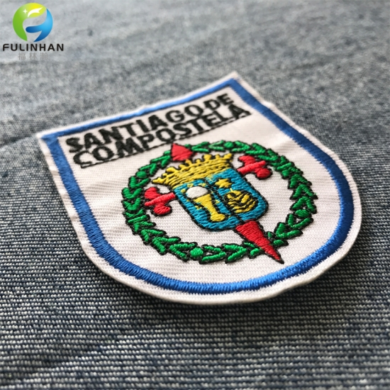 Sportswear Iron On Embroidered Badges Patches