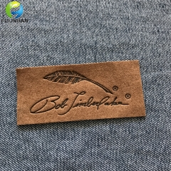 Custom Jeans Leather  embossed labels