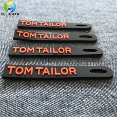 Custom Rubber embossed LOGO Pull Tabs