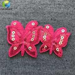Sew On Embroidered Sequin Beaded Patches