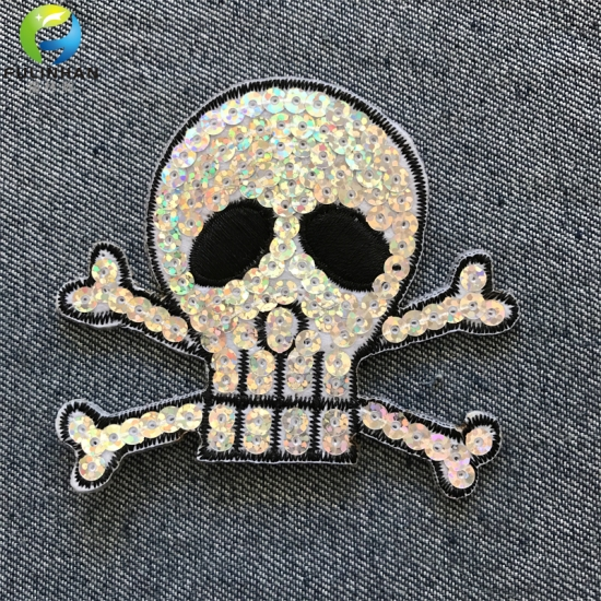 Clothing Iron On Embroidery Patches Sequine Patches