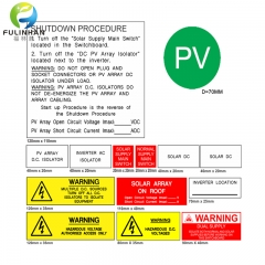 Engraving Label Kits for Australia solar power system