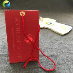 Red Paper Stamping Hang Tags with  Cord