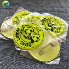 Custom PVC badges with safety pin