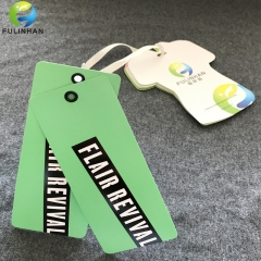 Custom clothing hang tags with eyelet