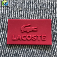 Silicone embossed Badges for Garments