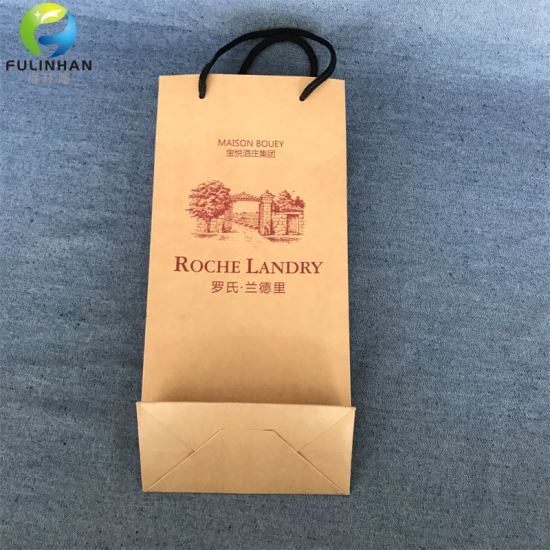 Paper wine packing bags