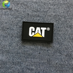 Clothing PVC Rubber embossed badges