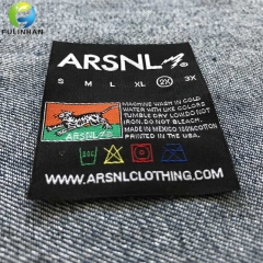 Clothing main woven neck labels