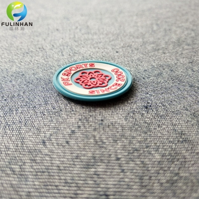 Floral Print Rubber Patches for Clothing