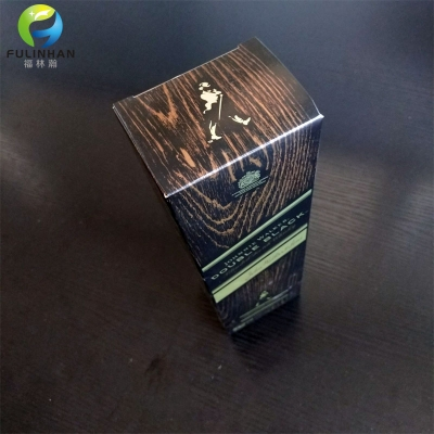 Wood Grain Paper Wine Packing Boxes