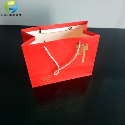 Custom Logo Paper Bags with Hot Stamping