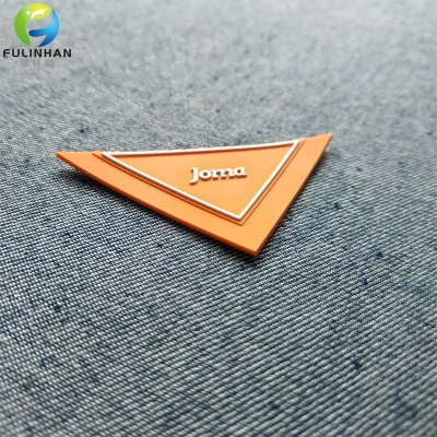 Custom Brand Logo Triangle Rubber Lables
