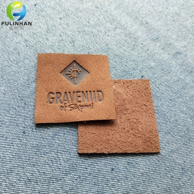 Custom Logo Square Micro Fibe Leather Patches