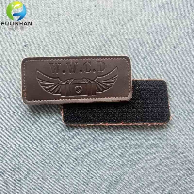 Custom Logo Leather Cuff Velcro