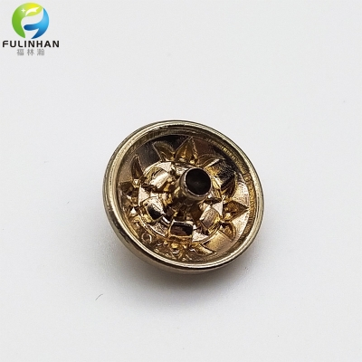 Wholesale Custom Flower Metalic Buttons