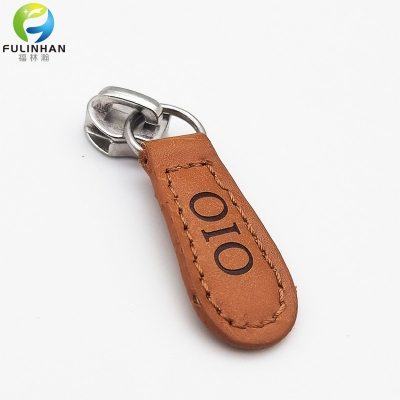 Custom Logo Leather Zipper Pulls