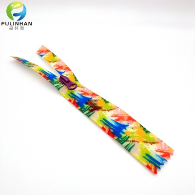 Custom Colourful Printing Waterproof Zippers
