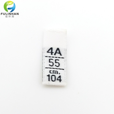 Custom Environmentally Recycled Clothing Size Label