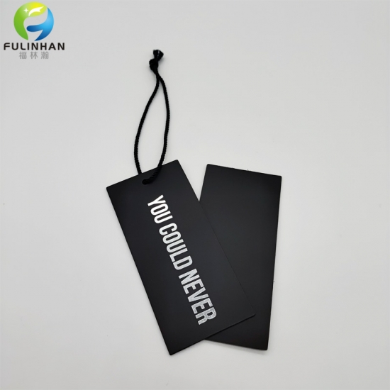 black hang tag